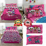 Comforter Bedding Set Sheets Pillow Case Pink Twin Size Reversible Polyester New