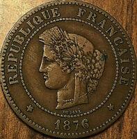 1876 A FRANCE CÉRÈS 5 CENTIMES RÉPUBLIQUE FRANÇAISE