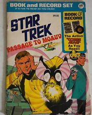 RARE 1975 Star Trek Passage to Moauv Comic Book and Record  45 RPM Spock Kirk