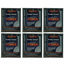 Alcotec Vodka Turbo Distillers Yeast (Pack of 6) - Lowest Cost per Pkg on Ebay