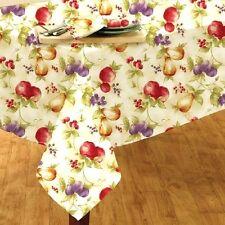 Fruit Ambrosia Tablecloth 60 x 84 Oblong Cream Purple Green Gold Home Kitchen