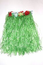 Child Hula Skirt with Flowers, Green