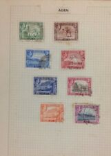 Collection Of Aden Stamps On 4 Album Pages. Used