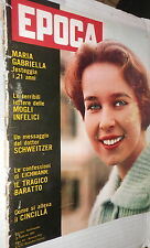 EPOCA 26 febbraio 1961 Maria Gabriella Savoia Gianni Agnelli Eichmann Schweitzer