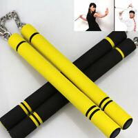 Martial Arts Foam Padded Nunchaku Sponge Stick Chain Practice Training Safety