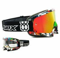 TWO-X Race Crossbrille MX Enduro Brille Villain Spiegelglas verspiegelt iridium