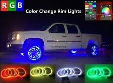 "fiacarlighting 15.5""IP68 RGB ColorChanging Bluetooth LED Wheel Rings Lightsx4PCS"