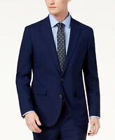 $759 Cole Haan 40R Men's Blue Slim Fit Wool Suit Sport Coat Jacket Blazer