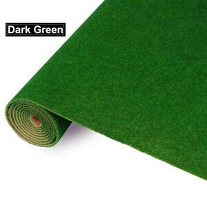 0.4mX1m Grass Mat Dark Green Artificial Lawn Turf Carpet Model Train Layout