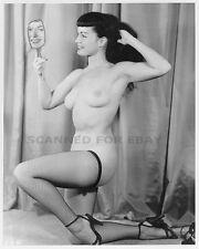 Betty Page legs nude print leggy female girl Bettie busty art nylons photo 7X0