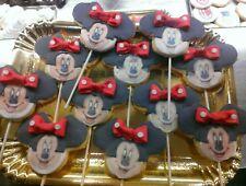 biscotti personalizzati Minnie topolino pasta frolla segnaposto gadget festa