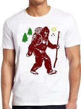 Bigfoot T Shirt  Funny Camping Sasquatch Backpacking Hiking Vintage Gift Tee 100