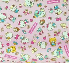 % Hello Kitty & Friends Patchworkstoff Stoffe Kinderstoff Patchwork Vorhangstoff