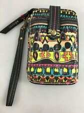 Sakroots Peace Coated Canvas Zip-Around Wristlet Wallet Smartphone Holder