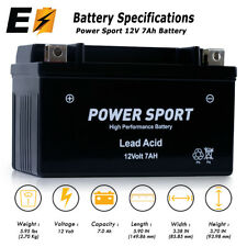 12V 7Ah ATV Go Kart Scooter Moped Battery 250cc 200cc 150cc KinRoad Replacement