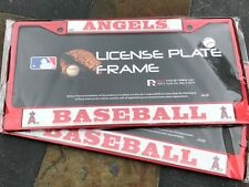 2 (TWO) Los Angeles Angels Red Metal License Frames wNice Raised 3D Graphics LA
