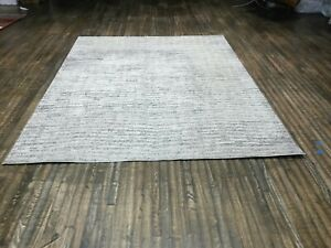 nuLOOM Contemporary Modern Solid and Striped Sherill Area Rug in Gray 7'6x9'6""