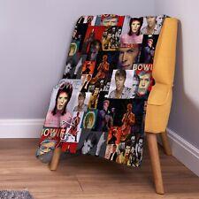 David Bowie Montage Colour Soft Fleece Throw Blanket