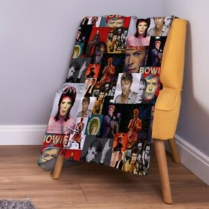 David Bowie Montage Farbe Weich Fleece Überwurf Decke