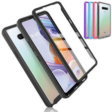 For LG Stylo 6 Phone Case Full-Body Bumper Cover With Built in Screen Protector