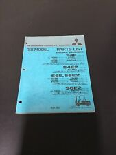 MITSUBISHI FORKLIFT TRUCKS DIESEL ENGINE PARTS LIST '88 MODEL 98734-51920