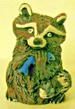 Vintage Collectible Adorable Nicely Painted Racoon Thimble marked Mish 2-7-87
