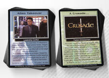 Babylon 5 CCG Crusade Complete Set of 50 Uncommon & 50 Common Cards New Mint