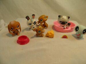 Lot of 6 Littlest Pet Shop Toys &Accessories Bunny Dog Cat Mouse Snake Monkey #5