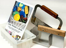 """Soap Mitre Box Miter Set W Slots For 1"""" & 2"""" Straight Wavy Cutters Mold & Guide"""