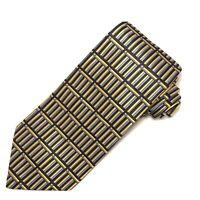 Turnbull & Asser Necktie Geometric Yellow Blue Black England Books Columns Tie