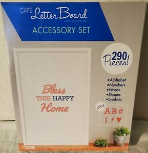 Leisure Arts Coral and Blue Cafe Letter Board Accessory Set 290 Pieces NEW 48497