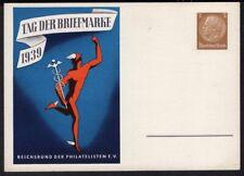 GERMANY PS STATIONERY POSTAL CARD 1939 UNUSED TAG DER BRIEFMARKE