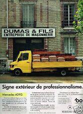 Publicité advertising 1986 camion Mercedes 409 D Entreprise Dumas & Fils