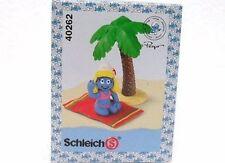 SCHLEICH 40262-CHINA-PUFFETTA IN SPIAGGIA BOX CON LOGO PUFFI-PUFFO-SMURFS-NUOVO