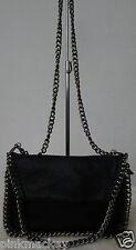 Damen Cocktail Tasche Handtasche Design Clutch schwarz Chain Kettenhenkel  NEU