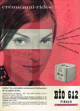 G- Publicité Advertising 1961 Cosmétique crème Bio 612 Pinaud