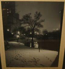 Original PAUL LEWIS ANDERSON 'Central Park' Winter NEW YORK CITY Gelatin PHOTO