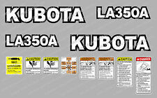 KUBOTA LA350A LOADER COMPACT TRACTOR DECAL STICKER