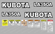 KUBOTA la350a CARICO COMPATTO Trattore ADESIVO DECALCOMANIA