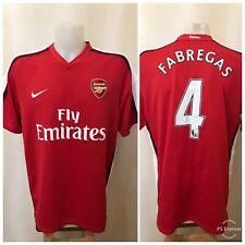 Arsenal London #4 Fabregas 2008/2009/2010 Home Sz XL Nike shirt jersey soccer