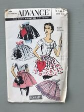 Vtg Advance Sewing Pattern Novelty Apron Playing Card Suits Uncut FF 8463