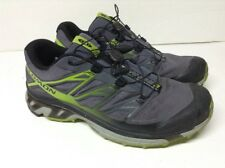 Salomon XT Wings 3 Mens Size 11 Trail Running Shoes Gray Flourescent Yellow