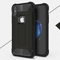 Slim Heavy Duty PC +TPU Armor Shockproof Screen Protect Case For Apple iPhone X