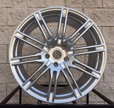 "20"" Porsche Cayenne Sport Edition Style Q7 Touareg Wheels Turbo Silver Rims New"