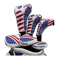 USA Flag Style Head Covers Golf Headcover for Taylormade Titleist Driver Rescue