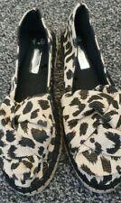 Ladies Canvas Animal Skin Espadrilles Size 4.5/5 New