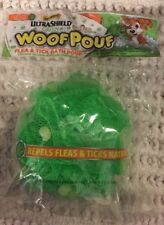Dog Wash Woof Pouf Flea Tick Bath Pouf Natural Soap Beads  Rich lather 15 Washes