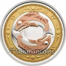 Canada 2010 Return of Tyee King Salmon $3 Pure Silver Proof w Rose Gold-Plating