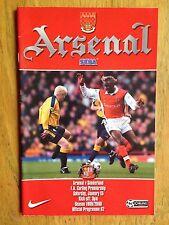 Arsenal v Sunderland 1999/2000 programme