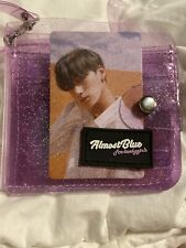[ALMOSTBLUE] Purple Twinkle Jelly Wallet Clear  Transparent Ateez Ver With Strap